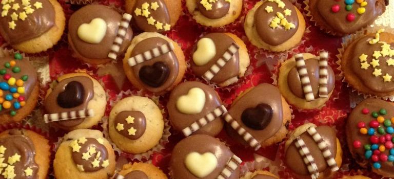 Nuss-Muffins zu Weihnachten
